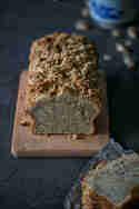 Ingwer-Bananenbrot mit Walnuss-Crumble © Ich machs mir einfach