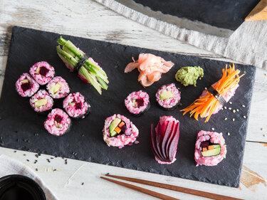 Veganes Suhsi in Pink