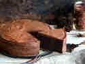 Schokoladenkuchen mit Rote Bete und Ganache