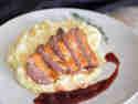 Entenbrust mit Portweinsauce und Kartoffel-Sellerie-Püree