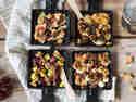 Schokolade statt Käse: vier süße Raclette-Pfännchen.