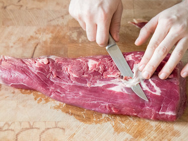 Rinderfilet Slberhaut entfernen