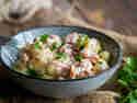 Gnocchi mit Lachs in Rahmsauce