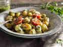 Gnocchi-Pesto-Salat Caprese