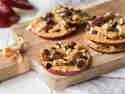 Apfel-Erdnussbutter-Snack