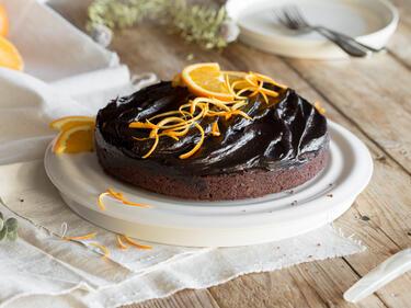 Fruchtig Und Vegan Saftiger Schokoladenkuchen Mit Orange