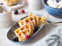 Kuchen in der Waffel: Cheesecake-Waffeln