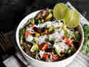 Burrito Bowl mit Rinderstreifen