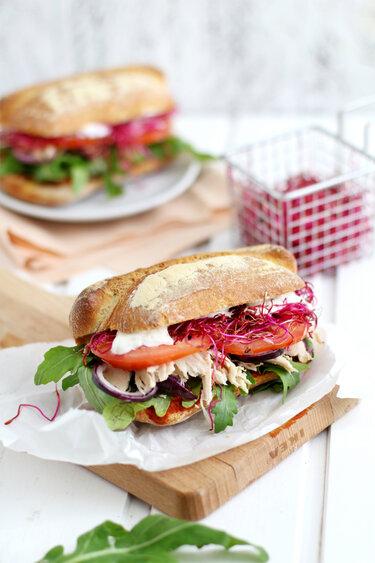 Pulled Chicken Sandwich © KüchenDeern