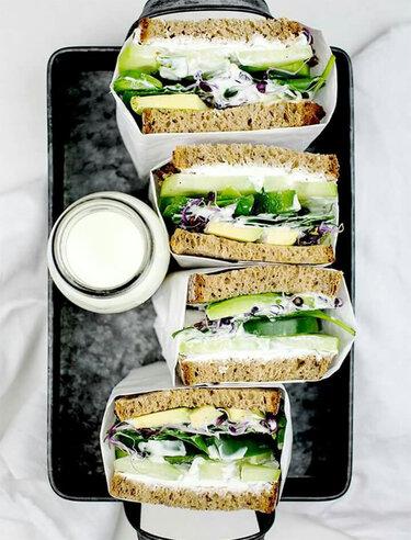 Happy Healthy Green Sandwich © Backstübchen