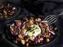 Feigen, Ricotta und Bohnen aus dem Ofen