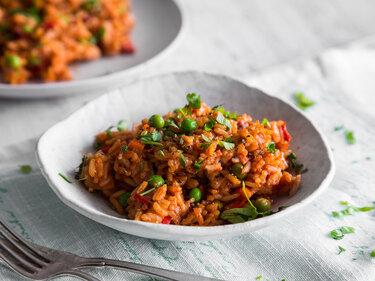 Djuvec Reis mit frischem Gemüse