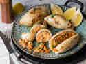Gefüllter Couscous-Tintenfisch
