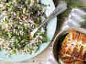 Reissalat mit Bohnen und Halloumi
