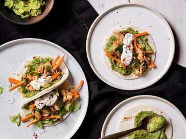 Mini-Tacos mit Fisch
