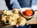 Knusprige Kichererbsen-Nuggets aus dem Ofen