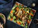 Teriyaki Hähnchen mit Brokkoli vom Blech