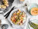 Italienischer Spargelsalat mit Melone