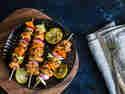 Marokkanische Fischspieße vom Grill