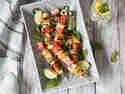 Halloumi-Melonen-Spieße vom Grill
