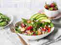 Erdbeer-Spinat-Salat mit Hähnchen