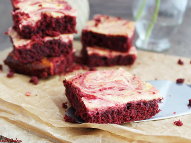 Marmorierte Red Velvet Brownies © Cook and bake with Andrea