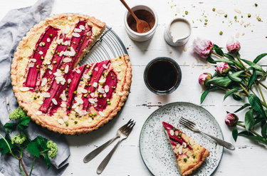 Veganer Rhabarber-Cheesecake © eat this!