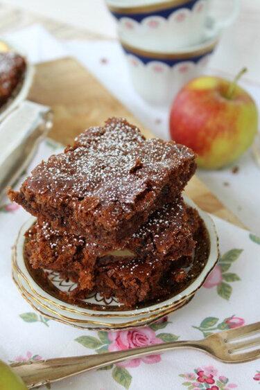 Russischer Apfel-Schokoladen-Kuchen © ulla trulla backt und bastelt