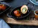 Hähnchenrollen mit Chili-Käse-Füllung vom Grill
