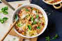 Schnelle Spaghetti mit Hähnchen, Bacon und Spinat