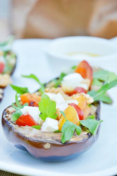 Gegrillte gefüllte Aubergine © Foodistas