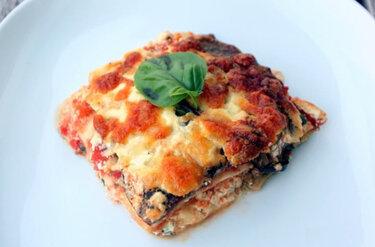 Lasagne mit ofengeröstetem Gemüse © Flowers on my plate