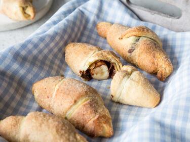 Schoko Bananen Croissants Mit Zimt Und Zucker