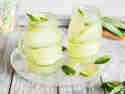 Gurken-Ingwer-Limonade mit Minze