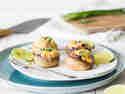 Vegan gefüllte Champignons mit Mais und Kidneybohnen