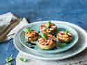 Gefüllte Champignons mit Tomaten Mozzarella