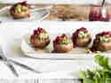 Gefüllte Champignons mit Gorgonzola und Walnüssen - für Grill und Ofen