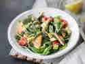 Spinatsalat mit Zitronentofu