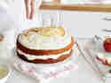 Apfelmus-Torte mit Zimt-Sahne