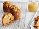 Apfel-Möhren-Küchlein mit Zimt & Apfelmus