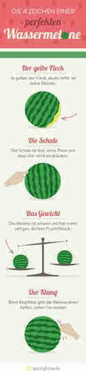 4 Tipps, wie du eine reife Wassermelone erkennst