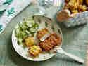 Mini-Schnitzel mit Kartoffelquetsch