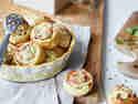 Blitzschnelle Flammkuchen-Schnecken