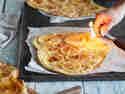 Süßer Apfel-Flammkuchen mit Calvados