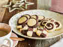 Mürbes Schwarz-Weiß-Gebäck – mit Kakao und Vanille