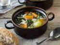 Hühnersuppe mit Grünkohl