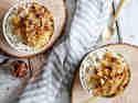 Low Carb Bratapfelkompott mit Hüttenkäse