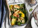 Spinatsalat mit Grillgemüse