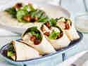 Schnelle Hähnchen-Spinat-Wraps