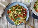 Schneller Zucchinireis mit Kichererbsen